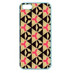 Shapes In Triangles Pattern Apple Seamless Iphone 5 Case (color) by LalyLauraFLM