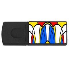 Colorful Distorted Shapes Usb Flash Drive Rectangular (4 Gb) by LalyLauraFLM