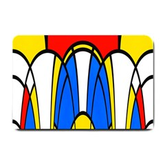 Colorful Distorted Shapes Small Doormat by LalyLauraFLM