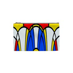 Colorful Distorted Shapes Cosmetic Bag (small) by LalyLauraFLM