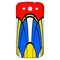 Colorful Distorted Shapes Samsung Galaxy S3 S Iii Classic Hardshell Back Case by LalyLauraFLM