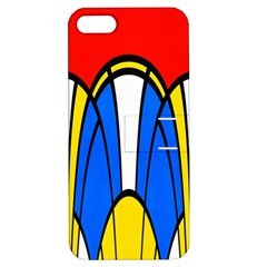 Colorful Distorted Shapes Apple Iphone 5 Hardshell Case With Stand by LalyLauraFLM