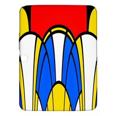 Colorful Distorted Shapes Samsung Galaxy Tab 3 (10 1 ) P5200 Hardshell Case  by LalyLauraFLM