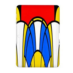 Colorful Distorted Shapes Samsung Galaxy Tab 2 (10 1 ) P5100 Hardshell Case  by LalyLauraFLM