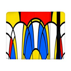 Colorful Distorted Shapessamsung Galaxy Tab Pro 8 4  Flip Case by LalyLauraFLM