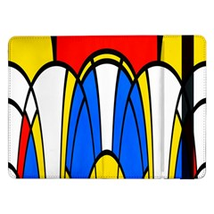 Colorful Distorted Shapessamsung Galaxy Tab Pro 12 2  Flip Case by LalyLauraFLM