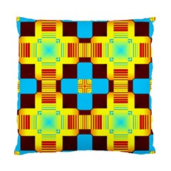 Abstract Yellow Flowers Standard Cushion Case (two Sides) by LalyLauraFLM