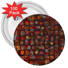 Floating Squares 3  Button (100 Pack) by LalyLauraFLM
