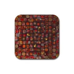 Floating Squares Rubber Square Coaster (4 Pack) by LalyLauraFLM