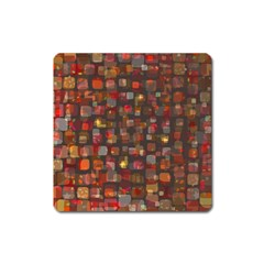 Floating Squares Magnet (square) by LalyLauraFLM