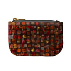 Floating Squares Mini Coin Purse by LalyLauraFLM
