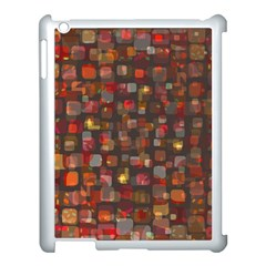Floating Squares Apple Ipad 3/4 Case (white) by LalyLauraFLM