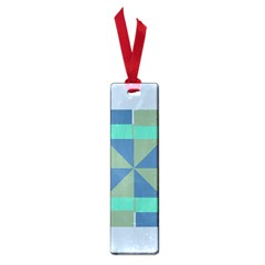 Green Blue Shapes Small Book Mark by LalyLauraFLM