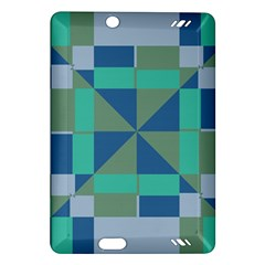 Green Blue Shapes Kindle Fire Hd (2013) Hardshell Case by LalyLauraFLM