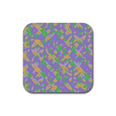Mixed Shapes Rubber Square Coaster (4 Pack) by LalyLauraFLM