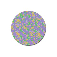 Mixed Shapes Magnet 3  (round) by LalyLauraFLM
