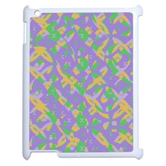 Mixed Shapes Apple Ipad 2 Case (white) by LalyLauraFLM