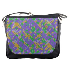 Mixed Shapes Messenger Bag by LalyLauraFLM