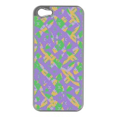 Mixed Shapes Apple Iphone 5 Case (silver) by LalyLauraFLM