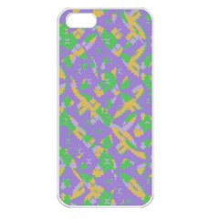 Mixed Shapes Apple Iphone 5 Seamless Case (white) by LalyLauraFLM
