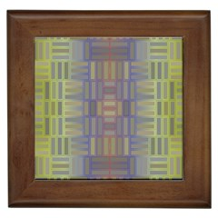 Gradient Rectangles Framed Tile by LalyLauraFLM
