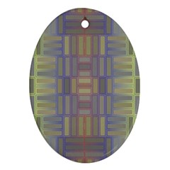 Gradient Rectangles Oval Ornament (two Sides) by LalyLauraFLM
