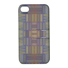 Gradient Rectangles Apple Iphone 4/4s Hardshell Case With Stand by LalyLauraFLM