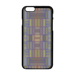 Gradient Rectangles Apple Iphone 6 Black Enamel Case by LalyLauraFLM