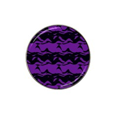 Mauve Black Waves Hat Clip Ball Marker (4 Pack) by LalyLauraFLM