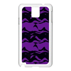 Mauve Black Waves Samsung Galaxy Note 3 N9005 Case (white) by LalyLauraFLM