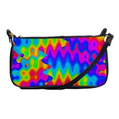 Amazing Acid Rainbow Shoulder Clutch Bags by KirstenStar