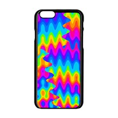 Amazing Acid Rainbow Apple Iphone 6 Black Enamel Case by KirstenStar