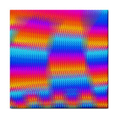 Psychedelic Rainbow Heat Waves Tile Coasters by KirstenStar