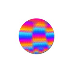 Psychedelic Rainbow Heat Waves Golf Ball Marker by KirstenStar