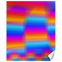 Psychedelic Rainbow Heat Waves Canvas 16  X 20   by KirstenStar