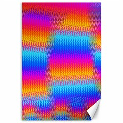 Psychedelic Rainbow Heat Waves Canvas 24  X 36  by KirstenStar