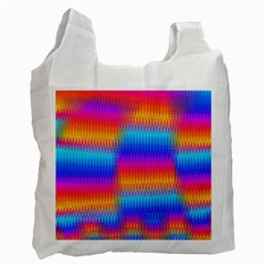 Psychedelic Rainbow Heat Waves Recycle Bag (two Side)  by KirstenStar