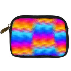 Psychedelic Rainbow Heat Waves Digital Camera Cases by KirstenStar