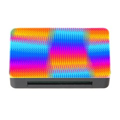 Psychedelic Rainbow Heat Waves Memory Card Reader With Cf by KirstenStar
