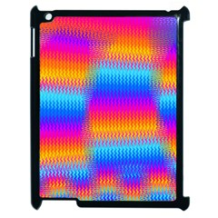 Psychedelic Rainbow Heat Waves Apple Ipad 2 Case (black) by KirstenStar