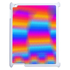 Psychedelic Rainbow Heat Waves Apple Ipad 2 Case (white) by KirstenStar