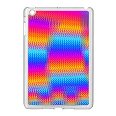 Psychedelic Rainbow Heat Waves Apple Ipad Mini Case (white) by KirstenStar