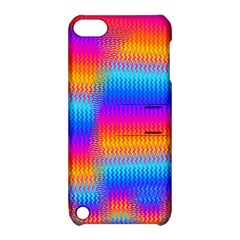 Psychedelic Rainbow Heat Waves Apple Ipod Touch 5 Hardshell Case With Stand by KirstenStar