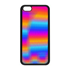 Psychedelic Rainbow Heat Waves Apple Iphone 5c Seamless Case (black) by KirstenStar