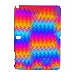 Psychedelic Rainbow Heat Waves Samsung Galaxy Note 10.1 (P600) Hardshell Case by KirstenStar
