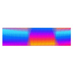 Psychedelic Rainbow Heat Waves Satin Scarf (oblong) by KirstenStar