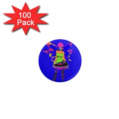 Fairy Punk 1  Mini Magnets (100 Pack)  by icarusismartdesigns
