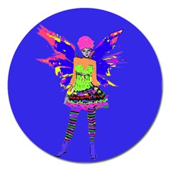 Fairy Punk Magnet 5  (round) by icarusismartdesigns