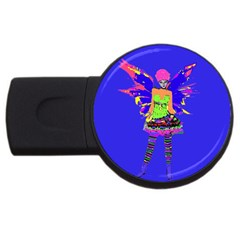 Fairy Punk Usb Flash Drive Round (2 Gb)  by icarusismartdesigns