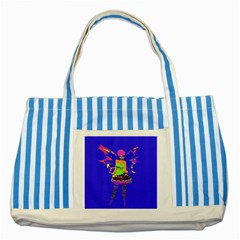 Fairy Punk Striped Blue Tote Bag  by icarusismartdesigns